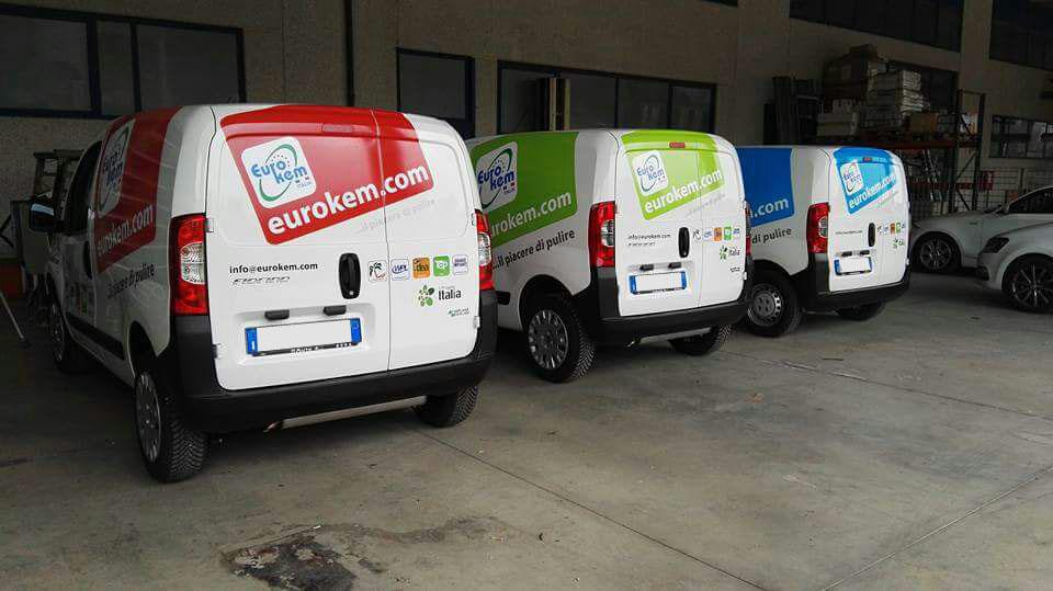 decorazione flotta aziendale eurokem