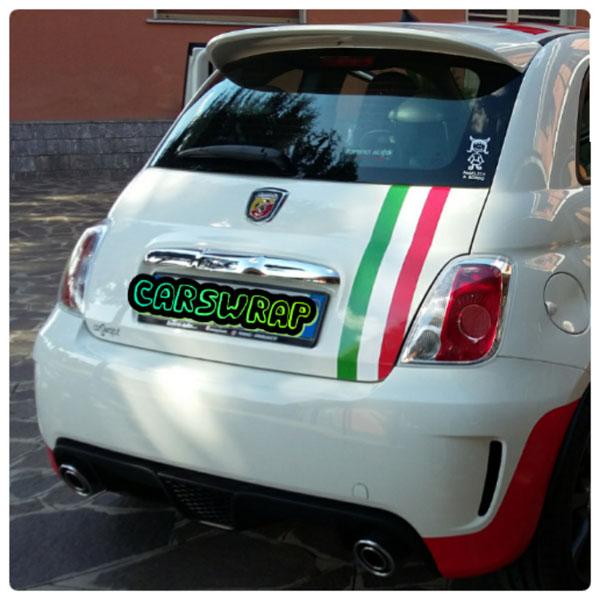 Fiat 500 Abarth Tetto A Scacchi Rossi Specchietti Rossi E