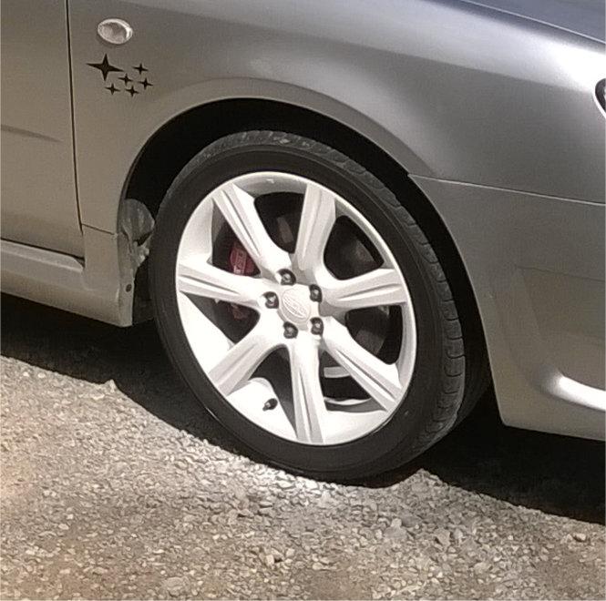 Bianco Puro Opaco per Cerchi Subaru in Pellicola removibile spray