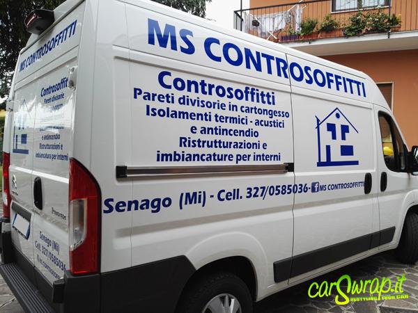 decorazione furgone MS controsoffitti