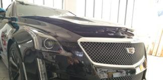 Cadillac, con pellicola trasparente protettiva Bodyfence
