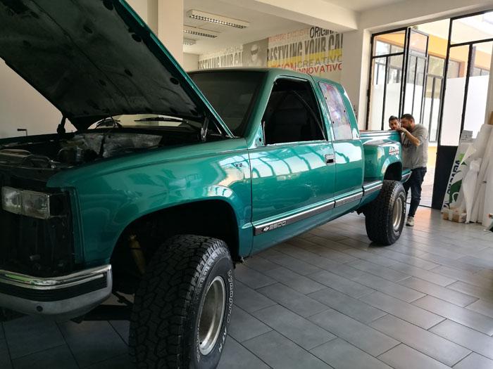 Pick Up Chevrolet Silverado Pellicola Floreale