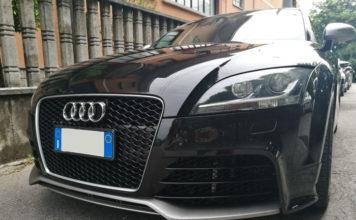 Audi TT Specchietti, Minigonna e Paraurti con Pellicola Removibile Grigio Alluminio Metal