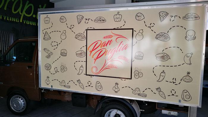 Decorazione furgone Piaggio Street Food Panpuglia